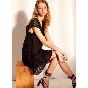 Wilfred Misha Embroidered Babydoll Dress XXS